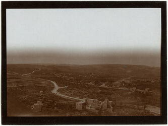 Fotografie Blick v. Dormitio n. SW Bethlehemstrasse Deutsche Kolonie [Jerusalem]