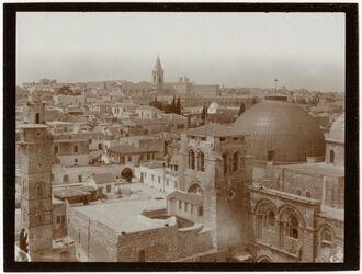 Fotografie Blick v. Erlöserkircheturm n. N Grabeskirche [Jerusalem]