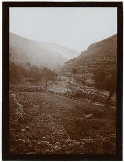 Fotografie Seitental des w. bettir v. Bahnhof [Wadi Bettiir]