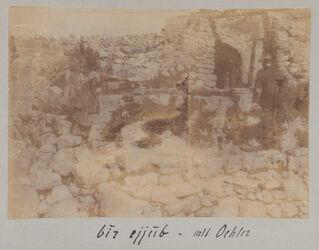 Fotoalbum Bir ejjub [Hiobsbrunnen oder Nehemiasbrunnen, Jerusalem] - mit [Wilhelm] Oehler