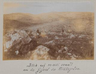 Fotoalbum Blick auf en-nebi samwil. Aus der Gegend der Richtergräber. [Jerusalem, Umgebung]