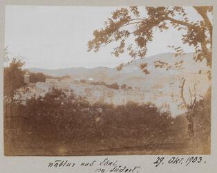 Fotoalbum 29. Okt. 1903. nablus und Ebal von Südost.