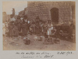 Fotoalbum Medafe von solem [Sulam?]. 31. Okt. 1903. Zuschauer beim Abritt.