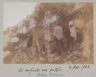 Fotoalbum Bei der Quelle von hattin. 4. Nov. 1903. Oehler, Dalman.