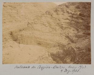 Fotoalbum Unterhalb des Choziba-Klosters. Unser Pfad. 4. Dez. 1903.