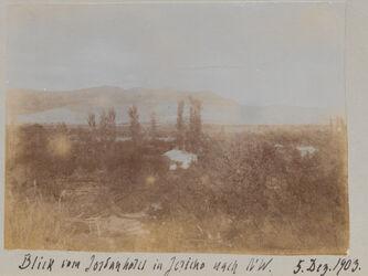 Fotoalbum Blick vom Jordanhotel in Jericho nach NW. 5. Dez. 1903.