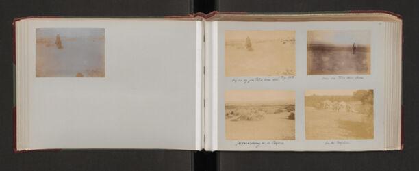 Fotoalbum Auf dem Web z. Toten Meer. Pfenningsdorf. 5. Dez. 1903.