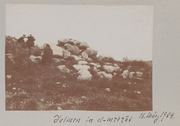Fotoalbum Dolmen in el-mrerat 16. März 1904.
