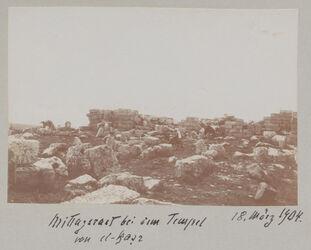 Fotoalbum Mittagsrast bei dem Tempel von el-kasr 18. März 1904