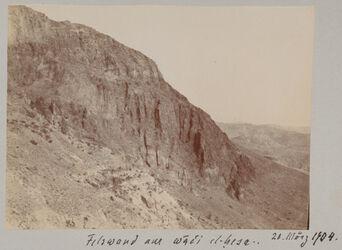 Fotoalbum Felswand am wadi el-hesa. 20. März 1904