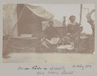 Fotoalbum Unsere Küche in et-tafile Koch Nikola Chalil 21. März 1904.