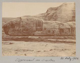 Fotoalbum Cippenwand von el-medras 30. März 1904.