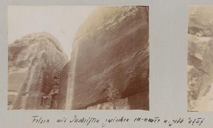 Fotoalbum Felsen mit Inschriften zwischen en-nmer u. gebb