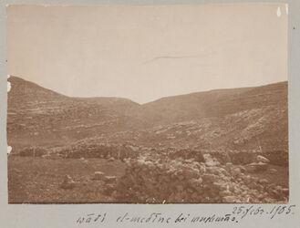 Fotoalbum wadi el-medine bei mnehmas. 25. Febr. 1905.