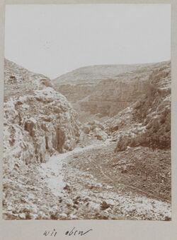 Fotoalbum wie oben [vgl. GDIs01192, Hinter chirbet el miktara im wadi es-swenit.]