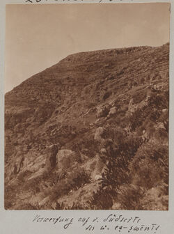 Fotoalbum Verwerfung auf d. Südseite des w. [wadi] es-swenit