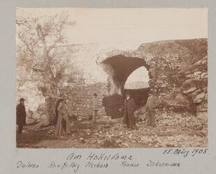 Fotoalbum Am Hakeldama [Jerusalem]. Dalman Hr. u. Fr. Volz Eberhard Fenner Zickermann