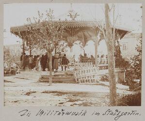 Fotoalbum Die Militärmusik im Stadtgarten. [Jerusalem]