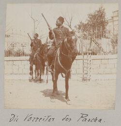 Album Gustaf Dalman, 1903-05 Die Vorreiter des Pascha. [Jerusalem]