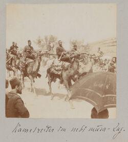 Fotoalbum Kamelreiter im nebi musa-Zug. [Jerusalem]