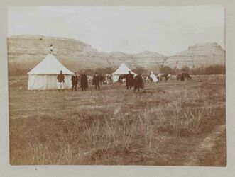 Fotoalbum [?] 20. März 1905 [Zeltlager bei der Jordanbrücke, gisr el-megami]