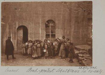 Fotoalbum Eberhard. Arab.-protest. Schulklass in es-salt.