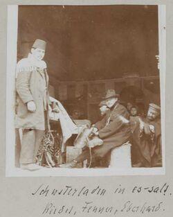 Fotoalbum Schusterladen in es-salt. Riedel, Fenner, Eberhard
