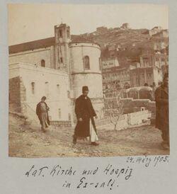 Fotoalbum 24. März 1905. Lat. Kirche und Hospiz in Es-salt.