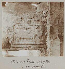 Fotoalbum Stier und Fisch-skulptur in er-rumman.