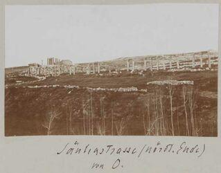 Fotoalbum Säulenstrasse (nördl. Ende) von O. [Gerasa]