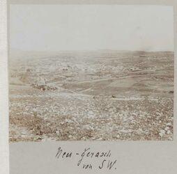 Fotoalbum Neu-Gerasch [Djerasch, Dscherasch, Gerasa] von SW.
