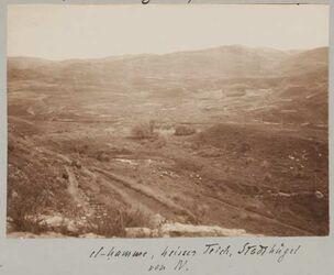 Fotoalbum el-hamme, kleiner Teich, Stadthügel von N.