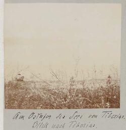Fotoalbum Am Ostufer des Sees von Tiberias [See Genezareth]. Blick nach Tiberias.