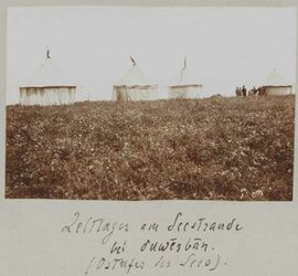 Fotoalbum Zeltlager am Seestrande bei duwerban. (Ostufer des Sees [See Genezareth])