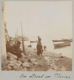 Fotoalbum Am Strand von Tiberias.