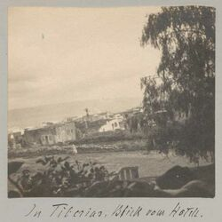 Fotoalbum In Tiberias. Blick vom Hotel.