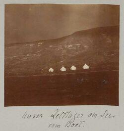 Fotoalbum Unser Zeltlager am See [See Genezareth] vom Boot.