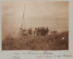 Fotoalbum Nach der Rückkehr von Tiberias Musa [Mousa], Chalil, Fenner, Dalman, Eberhard.