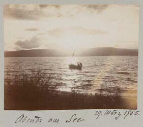 Fotoalbum 29. März 1905. Abends am See