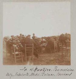 Fotoalbum In el-kunetra. Passrevision. Volz, Eckehardt, Riedel, Dalman, Eberhard