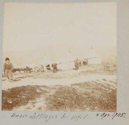 Fotoalbum 4. April 1905. Unser Zeltlager bei safed.