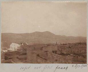 Fotoalbum 4. April 1905 safed und gebel [djebel, dschebel] germak [dschermak, djermak] [Gebel germaq (Hochfläche/Gebirge)]