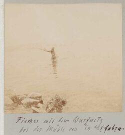 Fotoalbum Fischer mit dem Wurfnetz bei der Mühle von en et-tabra.