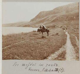 Fotoalbum Vor megdel [Magdala] im ruwer [el-ruwer]. Fenner, Eckhardt (?) [wohl Gottfried Eckardt].