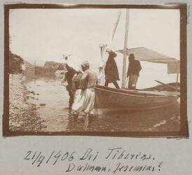 Fotoalbum 21/4 1906 Bei Tiberias. Dalman, Jeremias?