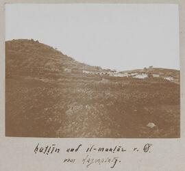 Fotoalbum hattin [Berg der Seligpreisungen] und el-muntar v. O. vom Lagerplatz.