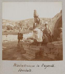 Fotoalbum Marienbrunnen in Nazareth. Eberhard.