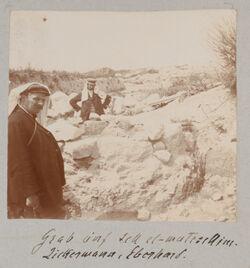 Fotoalbum Grab auf tell el-mutelsellim [Megiddo]. Zickermann, Eberhard.