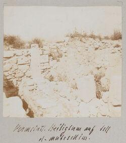 Fotoalbum Vermeintl. Heiligtum auf Tell el-mutesselim [Megiddo].