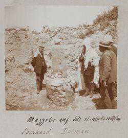Fotoalbum Mazzebe auf tell el-muteselim [Megiddo]. Eberhard, Dalman.